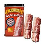 BACON shaped themed Adhesive Bandages, 15 Die-Cut Sterile Strips ~ Accoutrements