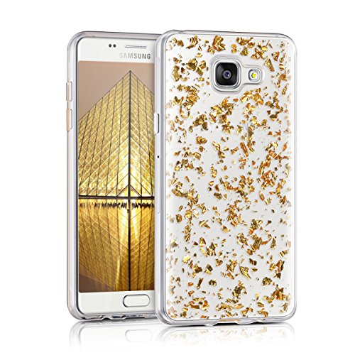 kwmobile-crystal-tpu-silicone-case-for-samsung-galaxy-a5-2016-in-gold-transparent-design-flakes