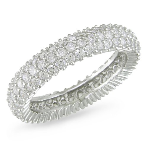 1.5mm CZ Eternity Ring in Silver