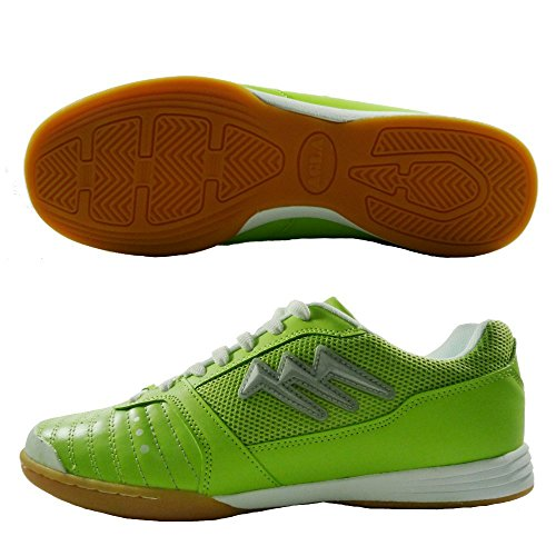 AGLA PROFESSIONAL KILLER INDOOR scarpe calcetto futsal con anti-shock (EUR 43, Verde)