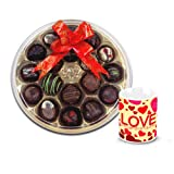 Adorable Combination Of Chocolates With Love Mug - Chocholik Belgium Chocolates