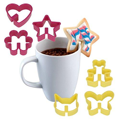Metaltex Ausstechformen für Kaffeekekse, Kekse können an...