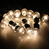 AGPtek 12x LED LED Party Lights Non-Blinking Waterproof Lights For Paper Lanterns Balloons Floral or Wedding Decorations(Warm-white)