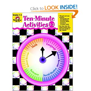 Ten-Minute Activities, Grades 1-3 Evan Moor Educational Publishers and Susan Kunze