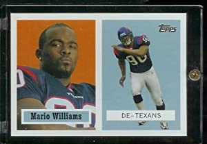 "2006 Topps Mario (RC) - Williams Houston Texans - Rookie Card ""TBC"" Edition #7 - Mint Condition - Shipped In Protective ScrewDown Case!! - NFL Football Trading Card (#1 Pick in Draft)"