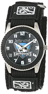 Game Time Mens MLS-ROB-SJ San Jose Earthquakes Rookie Black Round Analog Watch by Game Time