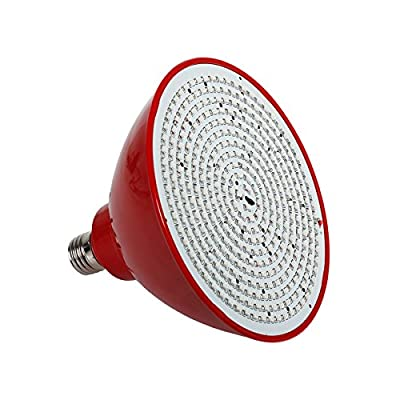 Superdream High Power E27 35W LED Plant Grow Light Bulb 352-LEDs for Hydroponic Plants Flowers Vegetables Greenhouse Hydroponic Lighting (Red Shell)