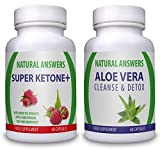 Super Ketone Plus (60 Capsules) & Aloe Vera Cleanse (60 Capsules)(Bundle Deal) By Natural Answers