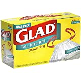 Glad Tall Kitchen Bags with Drawstrings, 13 Gallon 100 bags