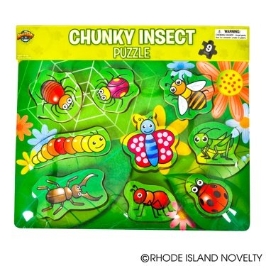 Insect Theme Chunky Puzzle, 9-Piece