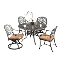 Hot Sale Home Styles Floral Blossom 5-Piece Dining Table, Charcoal