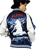 (エイト) 8(eight)3color スカジャン ジャケット サテン ブルゾン アウター ストリート ネイビー L
