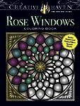 Creative Haven Rose Windows Coloring...
