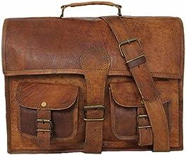 Vintage Leder Umhängetasche Aktentasche Arbeitstasche Laptoptasche Notebooktasche Collegetasche Messenger Retro Ziegenleder LT021Z