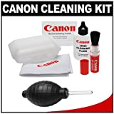 Canon Optical Lens and Digital SLR Camera Cleaning Kit with Brush, Microfiber Cloth, Fluid & Tissue + Hurricane Blower for EOS 1D X, 1Ds Mark II, III, IV, 60D, 5D, 6D, 7D, Rebel T1i, T2i, T3, T3i & T4i