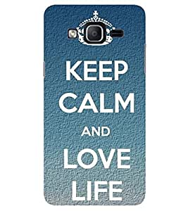 Evaluze KEEP CALM Printed Back Cover for SAMSUNG GALAXY ON7 PRO 2016