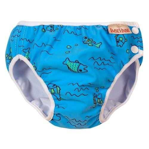 Imse Vimse Swim Diaper Turquoise Fish - Super Large
