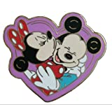 Disney Mickey and Minnie Mouse Heart Collector Pin
