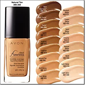 Avon Ideal Flawless Invisible Coverage Liquid Foundation, 1 ml / 15 SPF