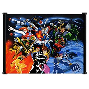 """Mobile Fighter G Gundam Anime Fabric Wall Scroll Poster (22"""" x 16"""") Inches"""