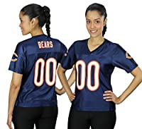 Chicago Bears NFL Womens Team Fashion Dazzle Jersey, Navy