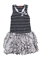 Kate Mack Girl's 2-6X Monte Carlo Dress in Navy