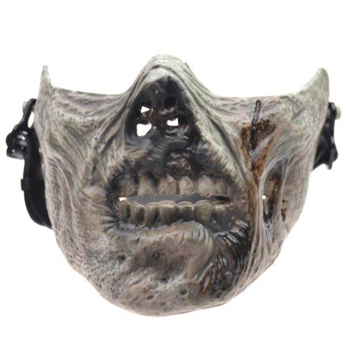 HawksTech Skull Skeleton Airsoft Hunting Biker Ski Half Face Protect Gear Mask Guard