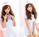 看護婦ナース服・帽子2点セット白コスチュームレディース