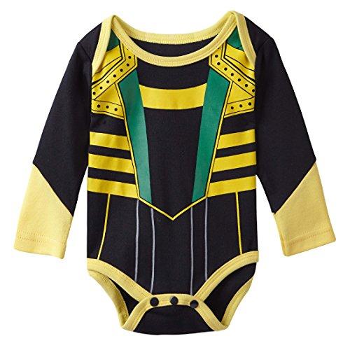A&J Design Baby Boys' Loki Long Sleeve Bodysuit Snapsuit