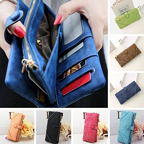 OURBAG Women Fashion Lady Leather Wallet Button Clutch Purse Long Handbag Bag Hot