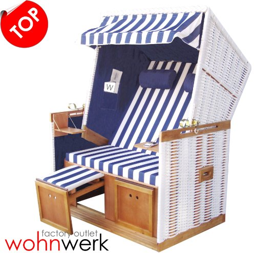 strandkorb nordsee de luxe blau ii billige gartenm bel. Black Bedroom Furniture Sets. Home Design Ideas