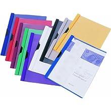 Filexec 6820, Report Cover, Slide-N-Lock, Set of 10, 10 Assorted Colors Black, Blue, Red, White, Purple, Green, Yellow, Gray, Burgundy, Dark Blue