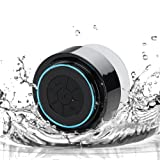 BESTOPE New Mini Waterproof Wireless Bluetooth Handsfree Mic Speaker Shower With Suction Cup For for iPhone, iPad, iPod, Samsung, Mobile Phones, Tablets PC, Laptops (Blue)