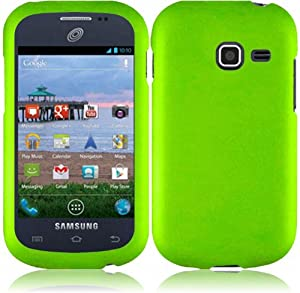 For Samsung Galaxy Centura S738C Hard Cover Case Neon Green Accessory