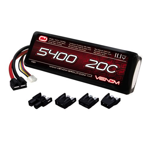 Venom 20C 3S 5400mAh 11.1 LiPO Battery with Universal Plug System