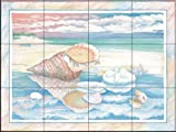 Shoreline Triton by Paul Brent Tile Mural for Kitchen Backsplash Bathroom Wall Tile Mural