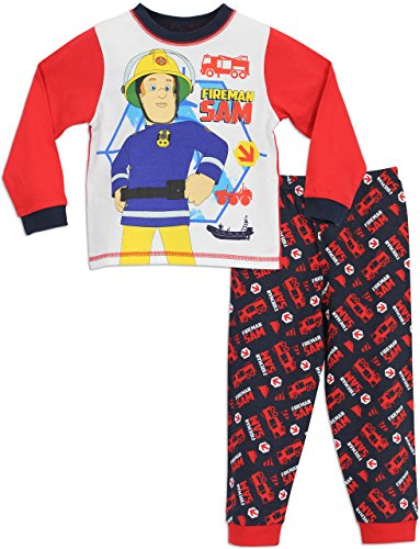sam le pompier ensemble de pyjamas fireman sam gar on vitrines de la mode. Black Bedroom Furniture Sets. Home Design Ideas