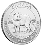 2014 Canada Arctic Fox $8 1.5 Oz .9999 Silver Coin. 2nd in series