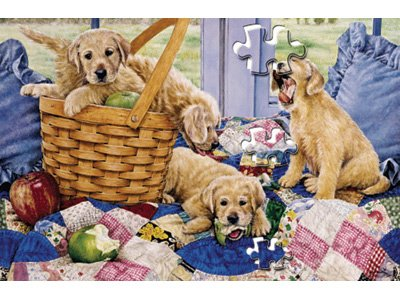 Serendipity 'Puppies Picnic' - 399pc Family Puzzle