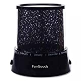 FanGoods Colorful Twilight Romantic Sky Star Master Projector Lamp Starry LED Night Light Bed Light for Christmas Light