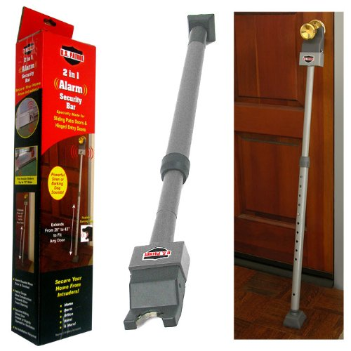 Home security door brace for Front door security bar