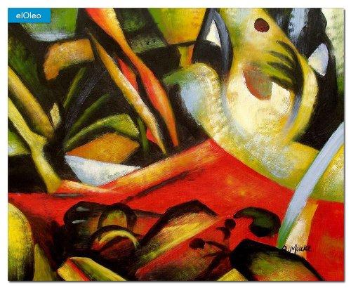 elOleo August Macke – Der Sturmes 40×50 Gemälde auf Leinwand handgemalt 83130A online bestellen
