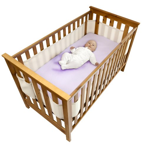 Safe Dreams 4 Sided Cot Wrap with 100% cotton surface (Ivory)
