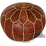 Stuffed Moroccan Pouf, Pouffe, Ottoman, Poof, Color : Brown