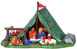 Lemax Vail Village Backyard Camping Table Piece #03838