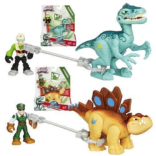 Jurassic World Playskool Heroes Dinosaur Trackers Wave 1 Set