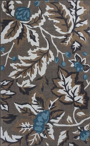 Serafina Floral Leaves Coffee 2'3' X 3'9' Kas Rug 2911 By Ruglots front-621605