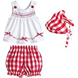 Etosell Baby Girl White Vest Tops Shorts Pants Clothes Cotton Outfit Set