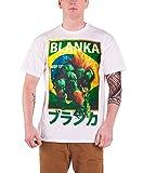 Streetfighter Blanka Character ストリートファイター ブランカ キャラクター 公式 メンズ ホワイト 白 Tシャツ ランキングお取り寄せ