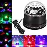 GLISTENY 5W Mini Colorful LED Bulb Stage Light Party Disco Lamp Crystal Magic Ball Light for KTV Bar Lights Disco Party DJ Ballroom Club Pub Home +US Plug